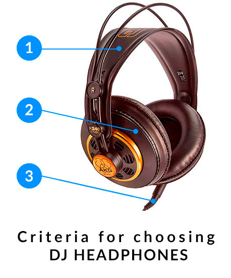 Criteria for choosing DJ headphones